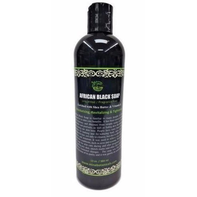 Unscented African Black Soap (Liquid)