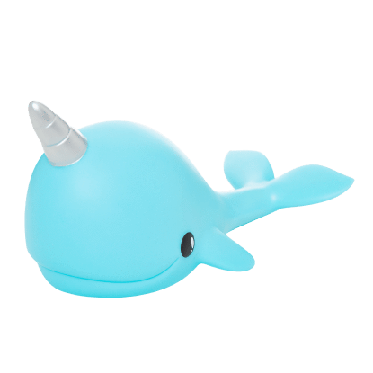 Narwhal Night Light (Turquoise)-Kidding Around NYC