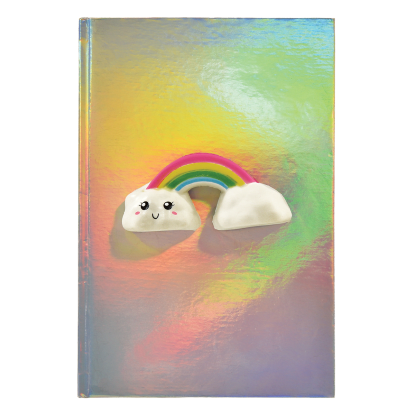 Rainbow Squishy Holographic Journal