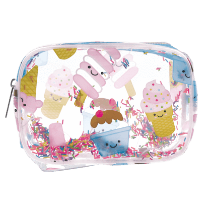 Ice Cream Treats Clear Cosmetic Bag-Kidding Around NYC