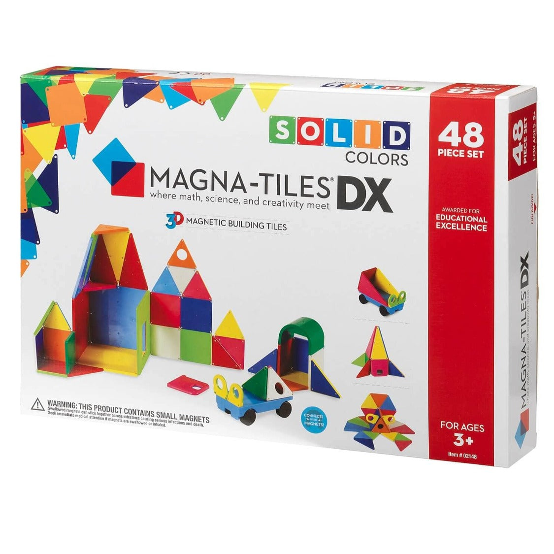 Magna Tiles Solid Colors 48Pc Set