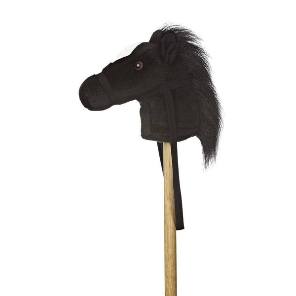 "Black Giddy-Up Stick Pony 37""-Kidding Around NYC"