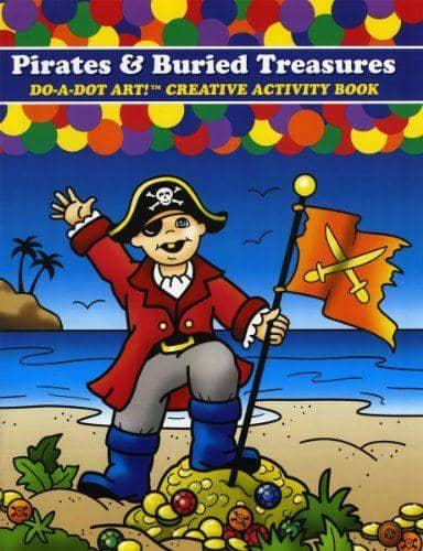 Do A Dot Art:Pirates & Buried Treasures Coloring Book-Kidding Around NYC