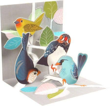 Birch Tree Birds Mini Pop-up Card