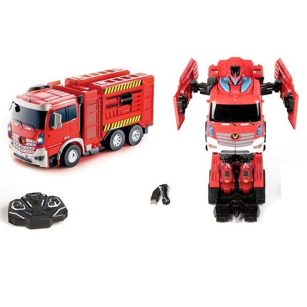 Blazin Moto Transforming Rc Firetruck Robot-Kidding Around NYC