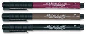 3 Pitt Calligraphy Pens-Color