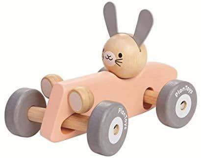 Rabbit Racing Car Pastel