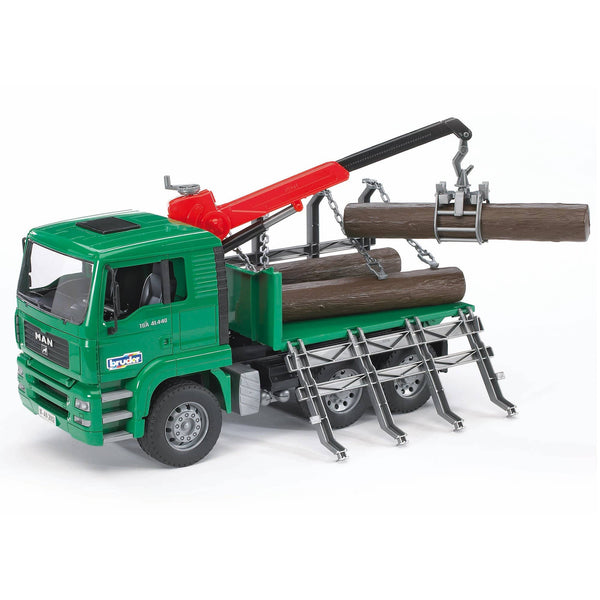 Bruder 02769 MAN Timber Truck With Loading Crane