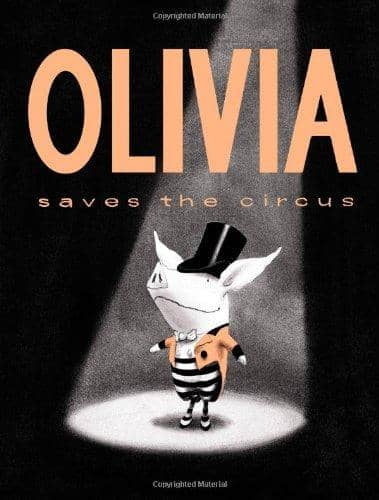Olivia Saves The Circus (Board Book)-Kidding Around NYC
