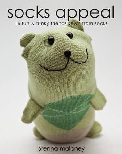 Sock Appeal: 16 Fun & Funky Friends Sewn From Socks (Book)-Kidding Around NYC
