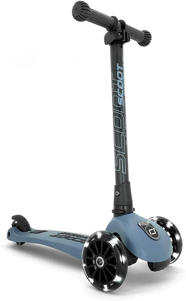 Steel LED Highway Kick Scooter Ages 3-6