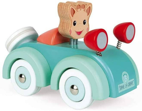 Janod Sophie La Girafe Collection - Wooden Push Along Car Toy