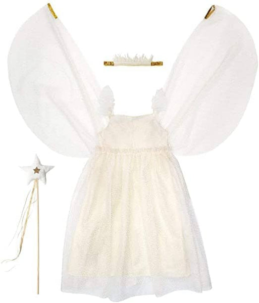 White Tulle Fairy Dress: Ages 3-4-Kidding Around NYC