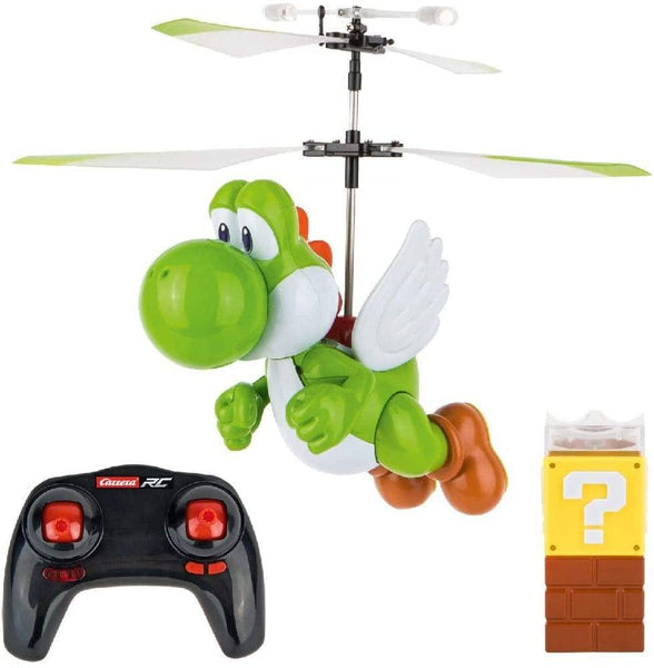 Carrera Remote Control Super Mario Flying Yoshi Helicopter Drone-Kidding Around NYC