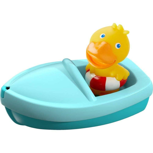 Haba 303863 Bath Boat Ahoi! Duck Bath Toy With Rubber Duck Finger Puppet Bath Toy From 18 Months