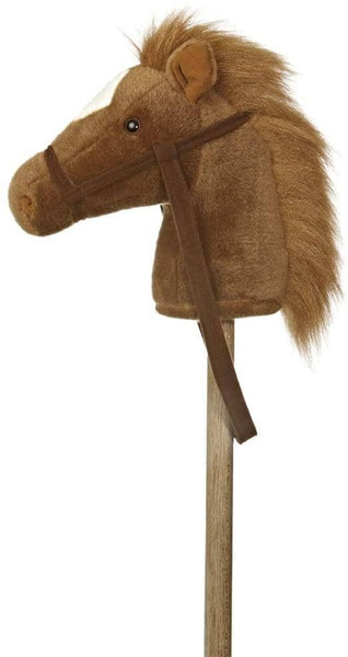 "Brown/White Giddy-Up Stick Pony 37""-Kidding Around NYC"