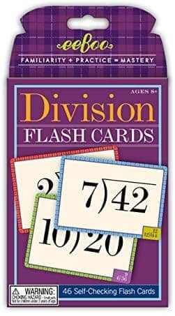 Division Flash Cards-Kidding Around NYC