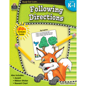 Ready-Set-Learn:  Following Directions Kindergarten - Grade 1