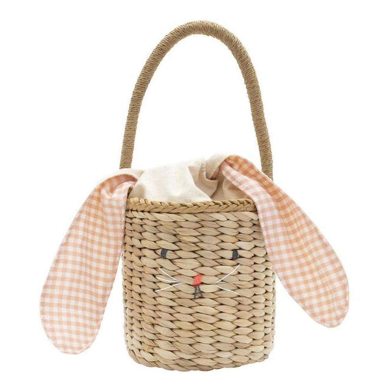 Woven Bunny Straw Bag-Kidding Around NYC