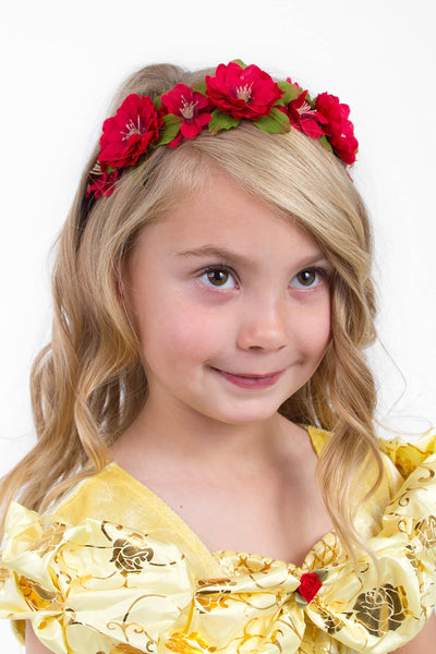 Ruby Red Flower Headband O/S