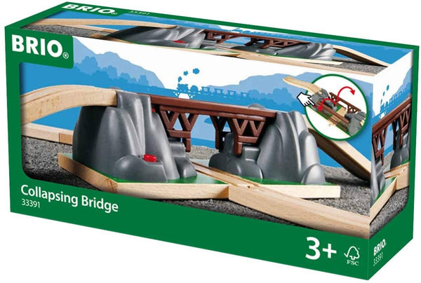 Brio World - 33391 Collapsing Bridge | 3 Piece Toy Train Accessory For Kids Age 3 And Up-Kidding Around NYC