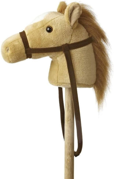 "Beige Giddy-Up Stick Pony 37""-Kidding Around NYC"