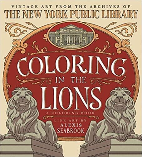 Coloring In The Lions-Kidding Around NYC