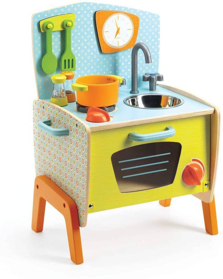 Djeco Gaby's Cooker Wooden Role Play Set, Multicolor-Kidding Around NYC