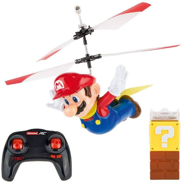 Carrera Rc - Officially Licensed Flying Cape Super Mario 2.4Ghz 2-Channel Rechargeable Remote Control Helicopter Drone Toy With Easy To Fly Gyro System-Kidding Around NYC