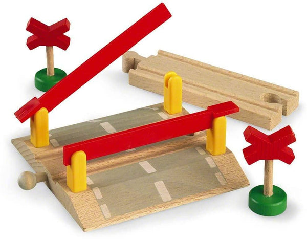 Brio World - 33388 Railway Crossing | 4 Piece Toy Train Accessory For Kids Ages 3 And Up-Kidding Around NYC