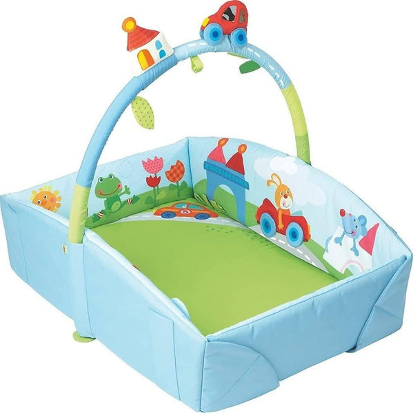 Whimsy City Soft Fabric Play Gym With Detachable Arch - Use As A Play Surface, Changing Area Or Small Bed