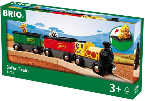 Brio World - 33722 Safari Train | 3 Piece Toy Train Accessory For Kids Age 3 And Up-Kidding Around NYC