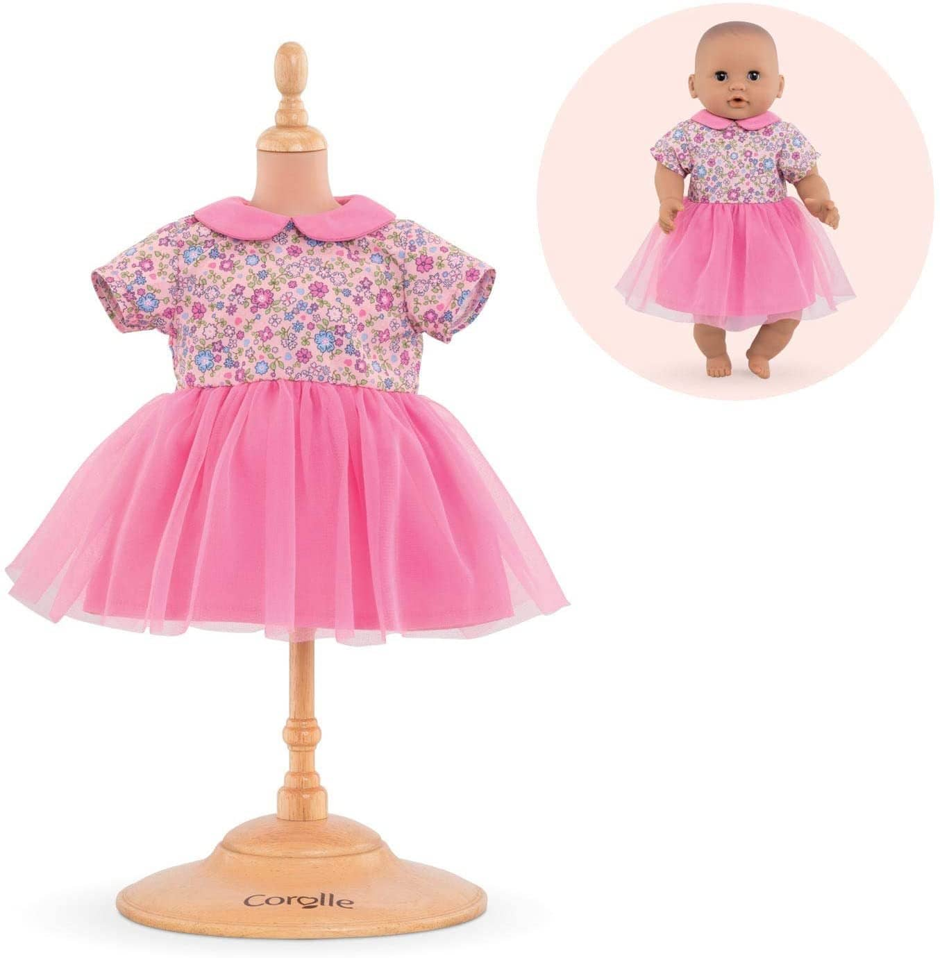 "12""-Sweet Dreams Dress Pink Corolle Mon Premier Poupon-Kidding Around NYC"
