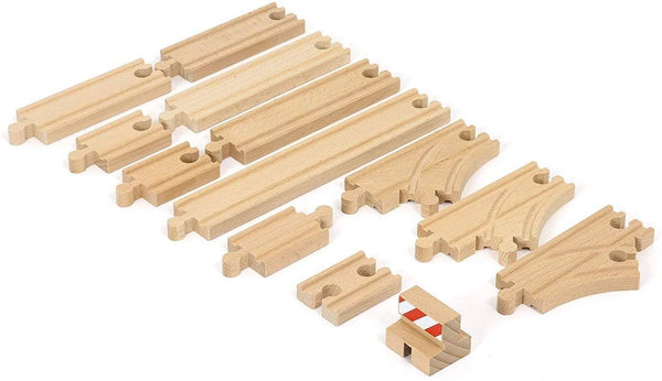 Brio World - 33394 Starter Track Pack | 13Piece Wooden Train Tracks For Kids Ages 3 & Up-Kidding Around NYC