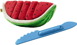 Biofino Watermelon Washable Plush Play Food With 5 Velcro Slices-Kidding Around NYC