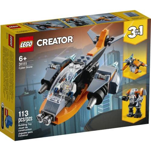LEGO 31111: Creator: 3-in-1 Cyber Drone (113 Pieces)