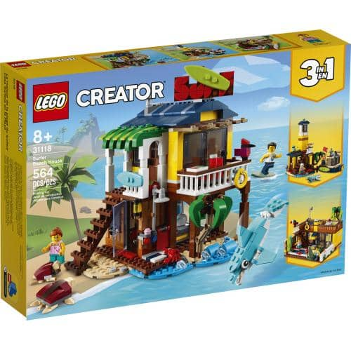 LEGO 31118: Creator: 3-in-1 Surfer Beach House (564 Pieces)