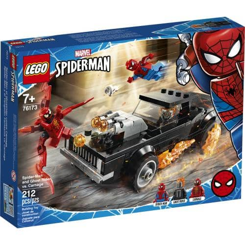 LEGO 76173: Marvel Spiderman: Spiderman and Ghost Rider vs. Carnage (212 Pieces)