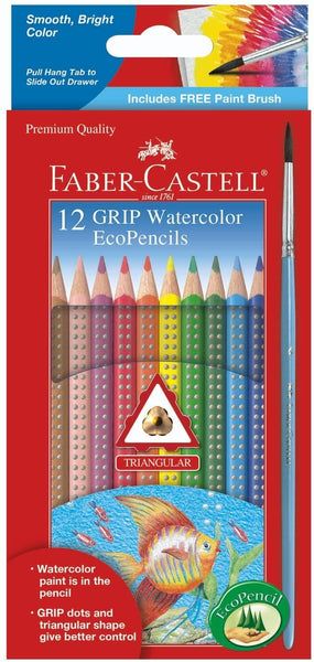 12Ct Grip Watercolor Ecopencils-Kidding Around NYC
