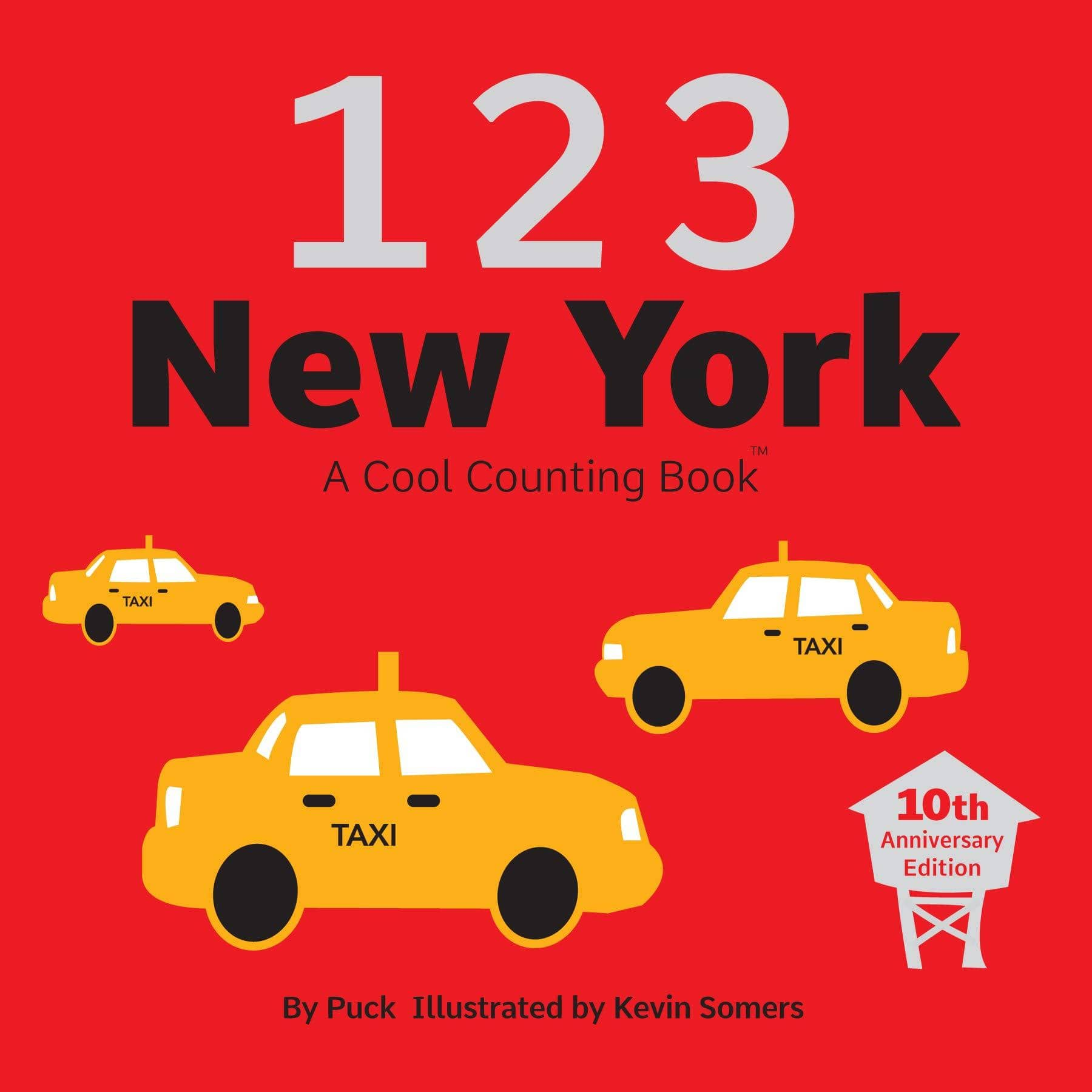 123 New York: A Cool Counting Book (Board Book)-Kidding Around NYC