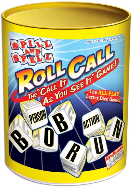 Spill and Spell Roll Call Game