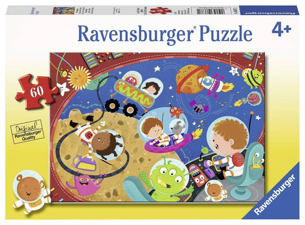 Ravensburger 08677, Recess in Space! 60 Piece Puzzle for Kids, Every Piece is Unique, Pieces Fit Together Perfectly