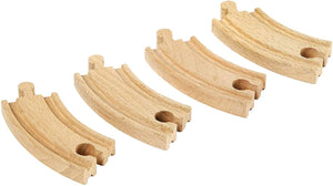 Brio World 33337 - Short Curved Tracks - 4 Piece Wooden Track Tracks For Kids Ages 3 And Up-Kidding Around NYC