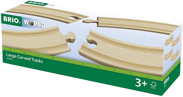 BRIO World Large Curved Tracks 4 pc