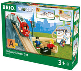BRIO World - 33773 Railway Starter Set | 26 Piece Toy Train with Accessories and Wooden Tracks for Kids Age 3 and Up