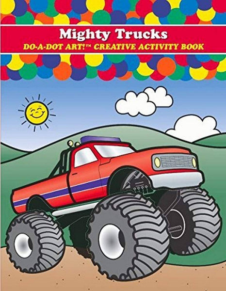 Do A Dot Art:Mighty Trucks Coloring Book-Kidding Around NYC
