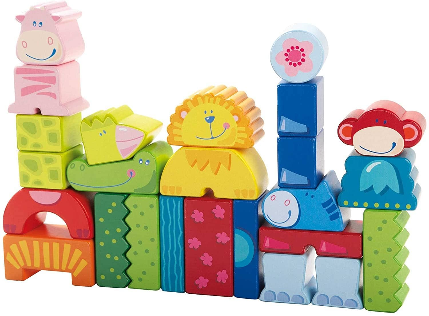 Eeny, Meeny, Miny Zoo! 25 Piece Mix & Match Animal Blocks (Made In Germany)-Kidding Around NYC