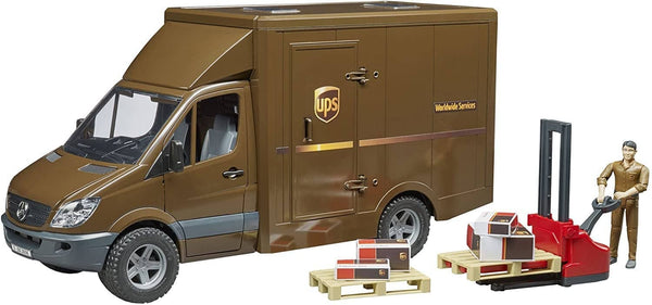 Bruder 02538 UPS MB Sprinter With Driver And Accessories-Kidding Around NYC