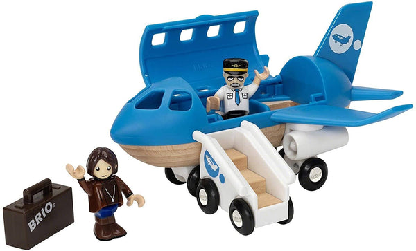 BRIO World - 33306 Airplane | 5 Piece Wooden Airplane Toy for Kids Ages 3 and Up