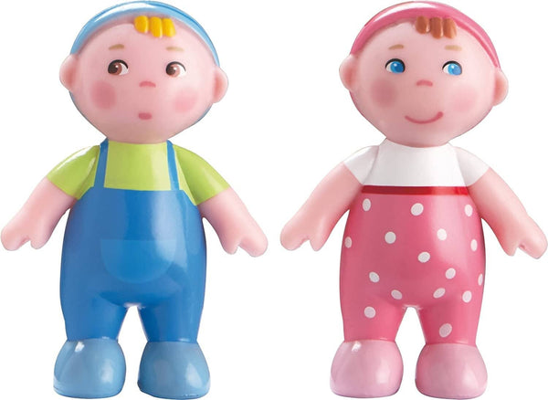 "HABA Little Friends Babies Marie & Max - 2.5"" Twin Bendy Doll Baby Figures (2 Piece Set)"